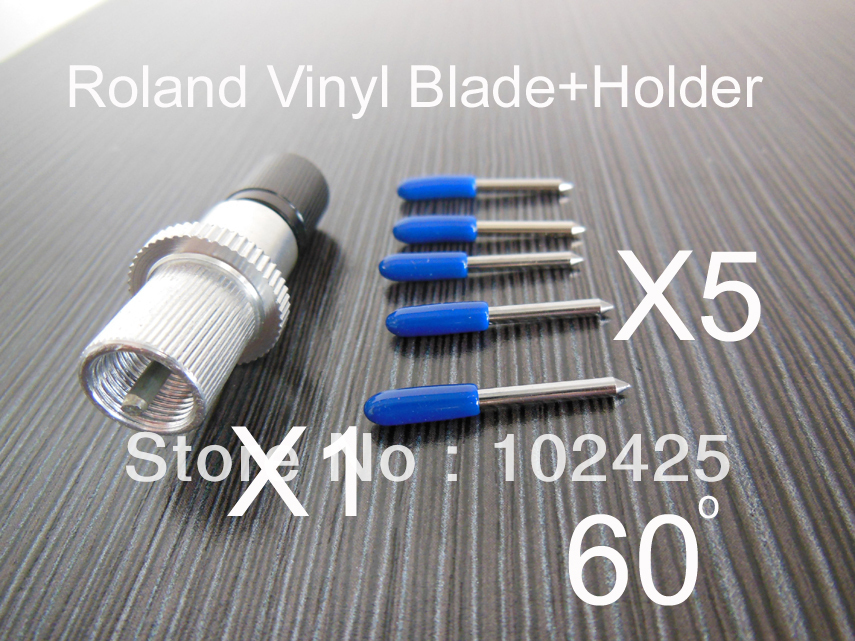 5pcs 60Degree for Roland Blades + 1pcs Blade Holder<br><br>Aliexpress
