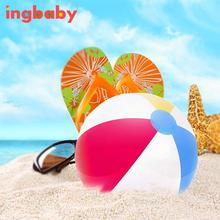Diameter 35cm Four-color Beach Ball Children's Inflatable Ball Toys Safe Non-toxic For Beach Swimming Pool Party LMY309 ingbaby