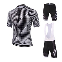 Good price uv-protection team men cycling wear/pro team bib gel padded newest bicycle jersey/sublimation lycra stock cycling kit