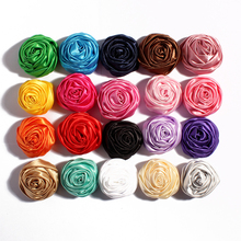 2015 New arrival  Multilayer Rosettes Flowers for Headband satin rose bud Hair Acessories DIY Photo Props 21 colors 40pcs/lot