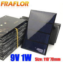 20pcs/lot 1W 9V Solar Panels Solar Glue Plate Solar Small Plate Quality DIY Solar Cells Kits Free Shipping