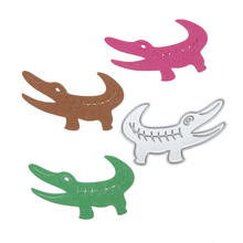 Metal Cutting Dies Crocodile Pattern Decor Carbon Steel DIY Scrapbooking Photo Album Craft Embossing Animal Die Cuts(China)