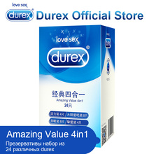 Durex Condom Amazing Value Pack Condoms Natural Latex with Lubricant Intimate Sex Shop Erotic Products for Adult Couples Safe(China)