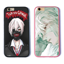 TPU+PC phone case tokyo ghoul black cover for iPhone 5 5s se 6 7 plus for apple cool cheap cell phone pink covers(China)