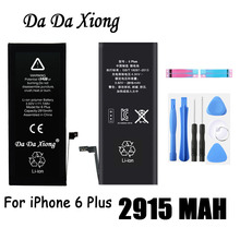 Da Da Xiong Battery 2915mAh For Apple iPhone 6 Plus 6Plus 5.5inch Real Capacity With Machine Tools Kit Replacement Batteries(China)