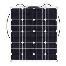 Solar panel 50w semi flexible solar panel 62.5mm*125mm solar cell for 12V solar panel charger system(China)