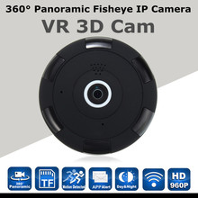 360 degree Panoramic Fisheye 960P HD IP Camera Wifi Wireless Security Surveillance Camera VR 3D Cam Home Security Baby mintors(China)