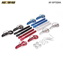 AUTOFAB- Fit ALL Racing Speed aluminum Alloy Silver Bonnet Hood Pin Lock Kit Down Hood Lock Pins For Honda civic 1992 AF-SP7220A(China)