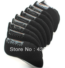 High quality 10pc/Set Golf Neoprene Iron Head Covers For Golf Iron Sets Wedge Cover