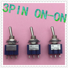 5pcs/lot Mini MTS-102 3-Pin G107 SPDT ON-ON 6A 125V 3A250VAC Toggle Switches Good Quality Free Shipping(China)