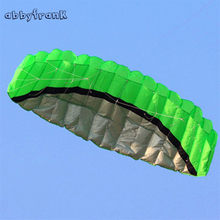 Abbyfrank Software 2.5m Parachute Dual Line Stunt Flying Kite Nylon Sport Paragliding Kitesurf For Adult Plastic Kite Handle(China)