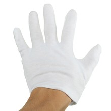 10 Pairs  100% Cotton White Gloves Health Music Canvas Beauty Working Labor Liner Hand Safely Security Protector