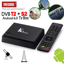 MECOOL Android 6.0 S905D 1G RAM DTV DVB-T2 Terrestrial DVB-S2 Satellite Receiver Combo TV Tuner Media Player Biss Ccamd Newcam(China)