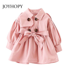 Girls Trench Coat Spring 2017 Children Clothing Kids Blazer Jackets Baby Girls Clothes Fashion Infant Toddler Outwear(China)