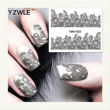 YZWLE 1 Sheet DIY Nails Art Decals Water Transfer Printing Stickers For Manicure Salon YZW-7322(China)