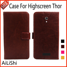 AiLiShi Flip Leather Case For Highscreen Thor Case High Quality Protective Cover Phone Bag Wallet 4 Colors With Card Slot !