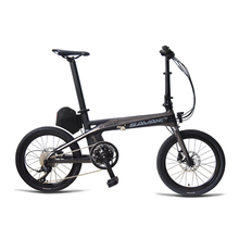 "SAVA E8 Electric Bicycle Carbon Fiber 20"" Folding ebike 36V/180W Pedelec Foldable SHIMANO 9S Bicycle with 8.7Ah SAMSUNG Battery(China)"