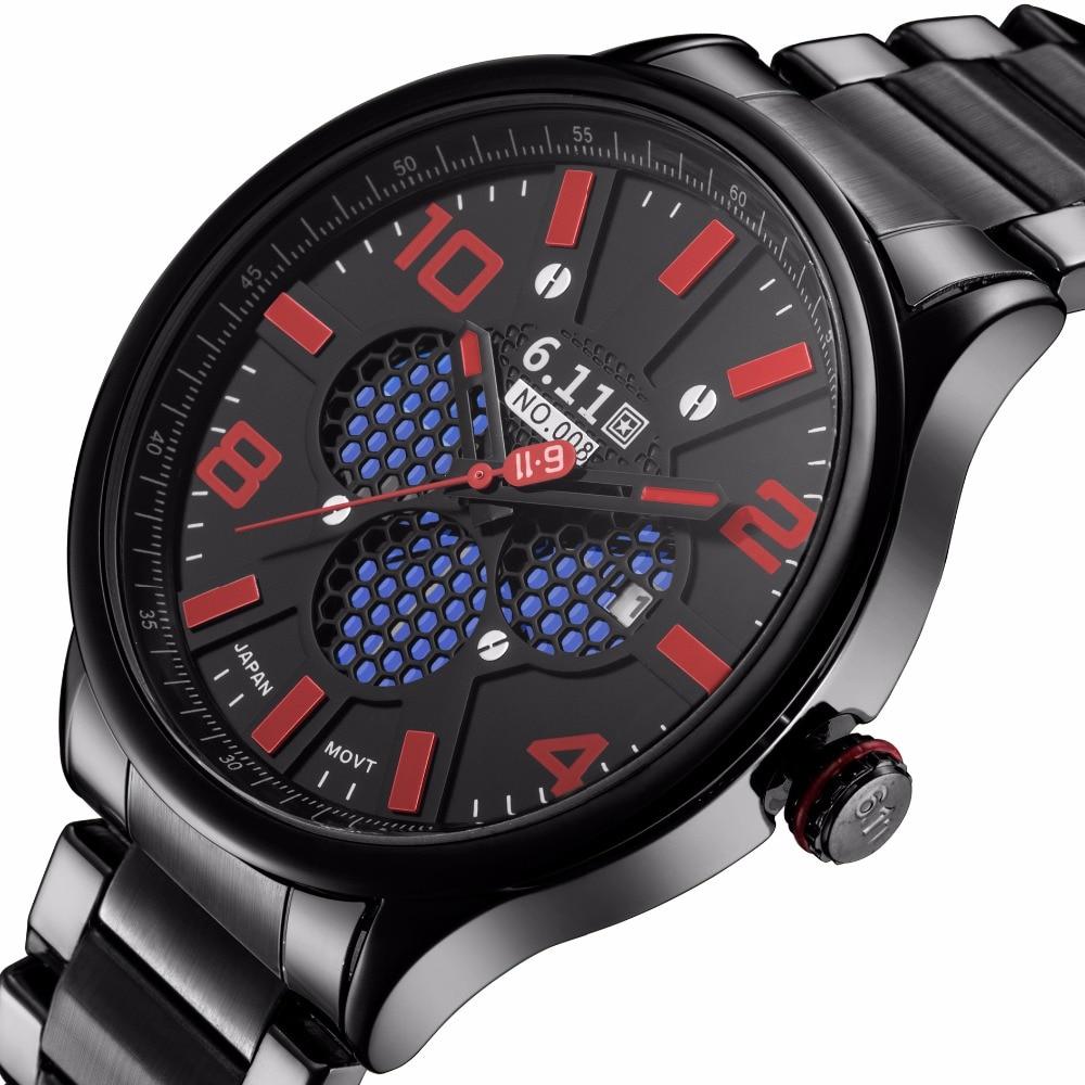 Men Fashion Sport Quartz Clock Mens Watches Top Brand Luxury Full Steel Business Waterproof Watch For Military Relogio Masculino<br>