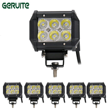 "10 Pieces 4"" inch 18W LED Work Light Lamp for Motorcycle Tractor Boat Off Road 4WD 4x4 Truck SUV ATV Spot Flood 12v 24v(China)"