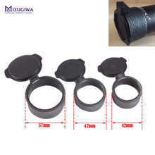 MIZUGIWA Rifle Scope Quick Flip Spring Up Open Lens Cover Cap Eye Protect Objective Lens Eye Piece Caliber Pistol Airsoft(China)