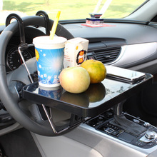 vehicle steering wheel computer table in the car  with drawer second generationcar tablet holder dining desk 1504