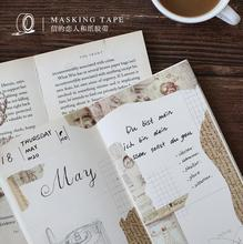 Retro Manuscript Vinci Washi Tape Adhesive Tape DIY Scrapbooking Sticker Label Masking Tape