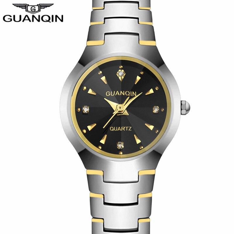 NEW GUANQIN Watches Men Business Luxury Tungsten Steel Quartz Watch Date Analog Display Mens Bracelet Watch relogio masculino<br>