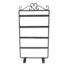 MJARTORIA 2PCs 48Holes Black Earring Jewelry Display Necklace Holder Wedding Decoration Fashion Jewellery Display Stands 30x16cm