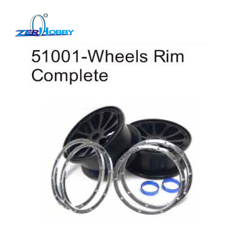 RC CAR PARTS ACCESSORIES WHEELS RIM COMPLETE FOR HSP 1/5 GAS ON ROAD RACING CAR 94054 AND 1/5 GAS BUGGY 94054 (PART NO. 51001))<br>