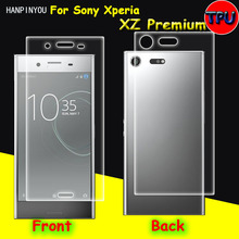 Front/Back Full Coverage Clear Soft TPU Film Screen Protector For Sony Xperia XZ Premium Cover Curved Parts (Not Tempered Glass)