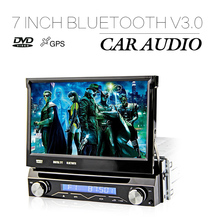 7 inch DJ7088 GPS Navigation Single Din Detachable Front Panel WCE Universal Car DVD Stereo Video Player Support car DVR input