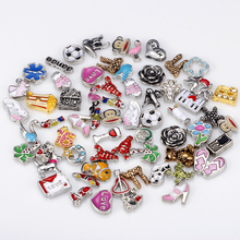 SPINNER Mixed 600 pcs/lot High Quality Mixed Floating Charms fit Lovely Glass Living Lockets necklace Jewelry(China)