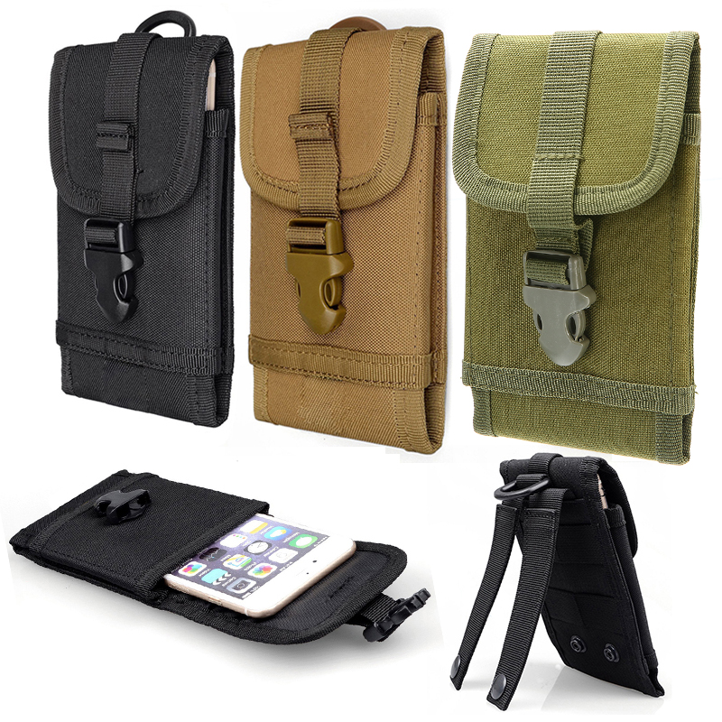 Mayitr Multi-functional Tactical Military 600D Oxford Cloth Molle Smart Phone Belt Pouch Pack Cover Black/Army Green/Khaki