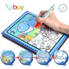 Drawing Toys Book Water Painting Theme Doodle Album Cartoon Paint Learning Coloring Notebook Recyclable Cardboard Refillable Pen