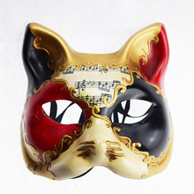 Sexy Retro Italy Venetian Style Masquerade Mask Handmade Cosplay Cat Half Face Prom Ball Shows Party mask For Men Women