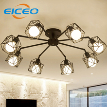 (EICEO) Chinese ceiling light Living room lamp moderne kristall deckenleuchten acrylic aluminum body LED ceiling Lamp AC185-265(China)