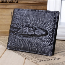 NEW 2017 Fashion Designers Brand PU Leather JINBAOLAI Men Wallets Coin Pocket Men's ID Credit Card Holder Purse Money(China)