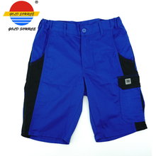 Factoray On Sales Cheap Mens Blue Work Wear Short Pants Workwear Shorts for Summer(China)