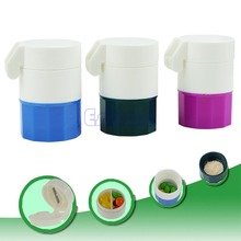 4 Layer Pill Medicine Crusher Grinder Splitter Tablet Divider Cutter Storage Box