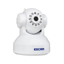 Escam QF001 HD 720P 1MP Mini Dome Camera Indoor WIFI IP CCTV Smart Camera Infrared Pan/Tilt Two Way audio P2P Support 32GB Card