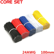 100pcs/Lot Tin-Plated Breadboard Jumper Cable Wire 100mm 24AWG For Arduino 5 Colors Flexible Two Ends PVC Wire Electronic