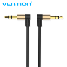 Vention AUX Cable 3.5mm Jack Audio Cable 3.5 Male Male Cable Audio 90 Degree Angle speaker cable for iphone Car Headphone PC MP3(China)