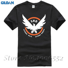 Mens Casual 2017 Tom Clancy's The Division SHD The Strategic Homeland Division Logo Cotton O-Neck Short Sleeve T-shirts(China)