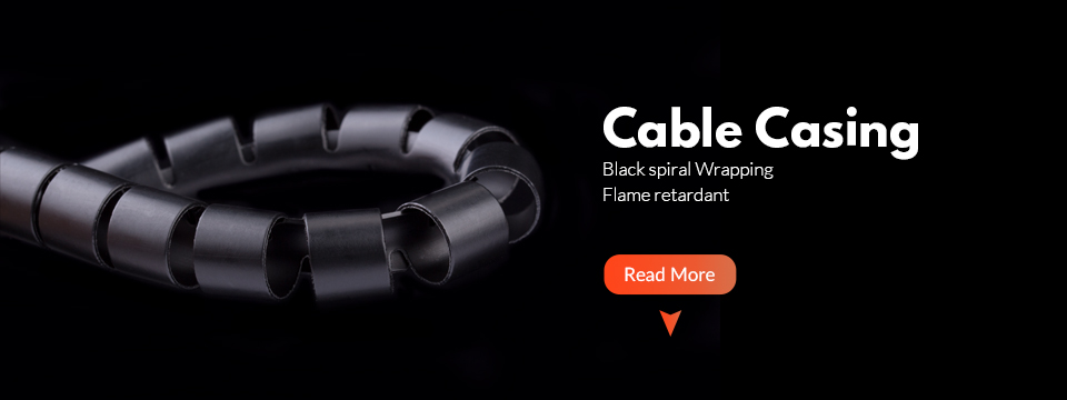 Trianglelab Cable casing Black spiral Wrapping  RepRap Flame retardant 10MM diameter Cable Sleeves Winding pipe wrapping band