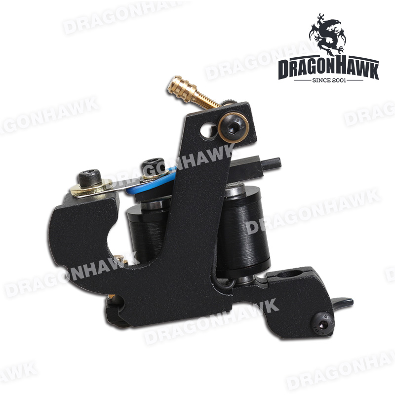 Newest Black Color Handmade Iron Tattoo Machine  Wrap Coils Shader &amp; Liner Guns Tattoo Supplies<br><br>Aliexpress