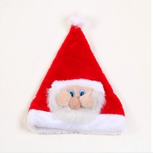Christmas Dress 1 PCS Christmas Hat Ordinary Adult Red Santa Claus Face Big Moustache Christmas Party Home Decorations 5ZHH145(China)