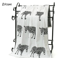 Horse Elephant Gauze luxury 100% cotton bath towel brand serviette de bain adulte embroidery large beach towels 70x140cm