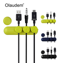 Mobile Phone Cable Organizer 3 Magnetic Button Multipurpose Desktop Cable Data Line Clip for Cable Protected Holder USBC1618