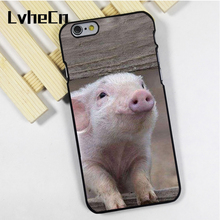 LvheCn phone case cover fit for iPhone 4 4s 5 5s 5c SE 6 6s 7 8 plus X ipod touch 4 5 6 Pig Farm Cute Piglet Babe(China)