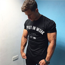 Buy Summer men short sleeve t shirt Fashion Casual gyms Fitness cotton tees male workout Brand clothing Slim fit shirt tops clothes for $8.99 in AliExpress store